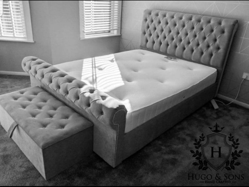 the new sleigh bed