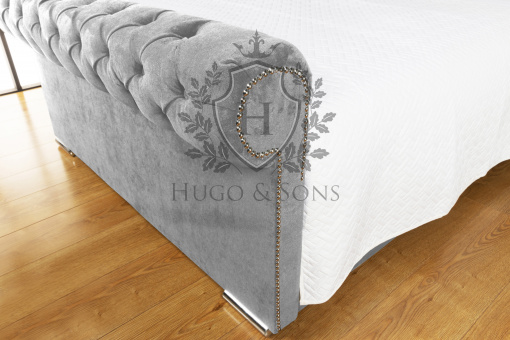 Sleigh bed Chenille Fabric 2