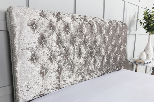 sleigh bed crushed velvet5