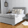 Sleigh bed Chenille Fabric
