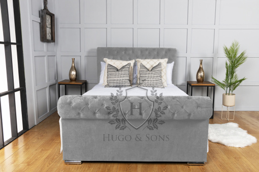 Sleigh bed Chenille Fabric 4