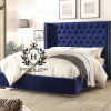 classic winged wingback bed