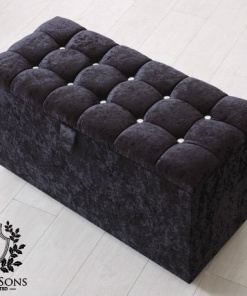 black blanket storage box