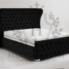 black oxford wing back bed