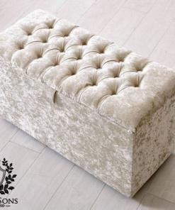cream blanket storage box