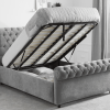 sleigh bed ottoman storage