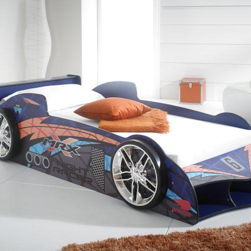 blue car racer bed