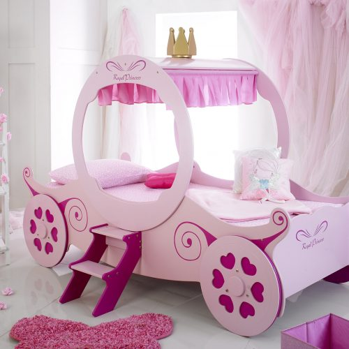 pink princess carriage bed 2