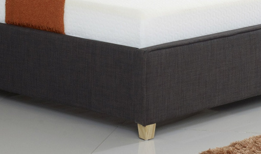 Charcoal Fabric Buttoned Ottoman Storage Bed 5