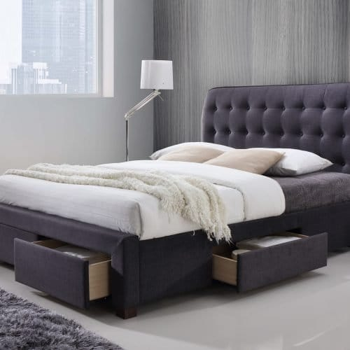 Dark Grey 4 Drawer Storage Bed
