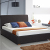 Designer Charcoal Fabric Ottoman Storage Bed