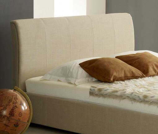 Designer Cream Fabric Ottoman Storage Bed 4