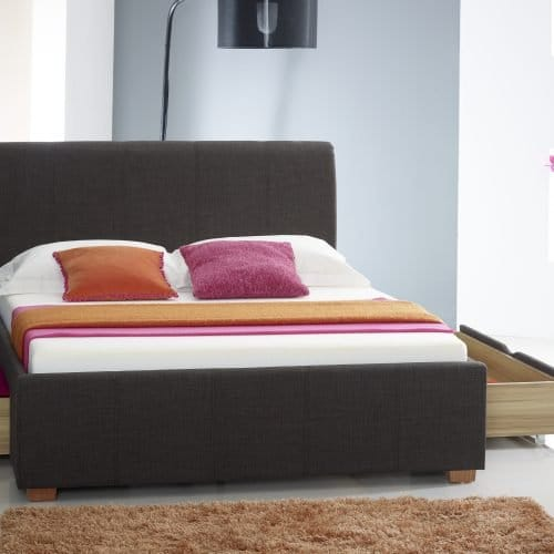 Classic Charcoal Fabric Drawer Bed 2