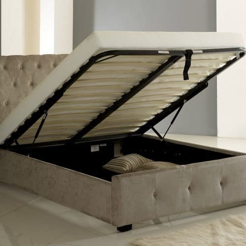 Mink Winged (Wing Back) Ottoman Storage Bed 2