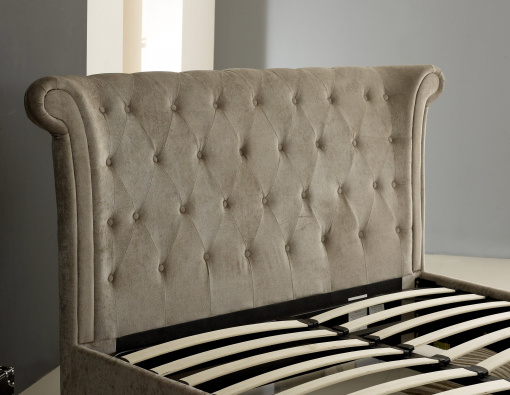 Mink Winged (Wing Back) Ottoman Storage Bed 3