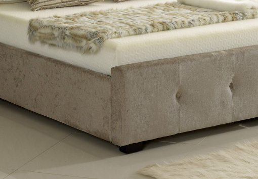 Mink Winged (Wing Back) Ottoman Storage Bed 4