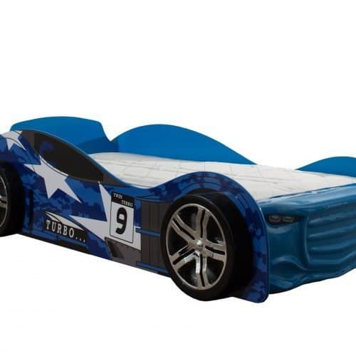 blue turbo car bed