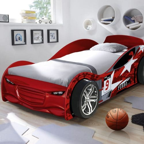 RED TURBO RACER car bed