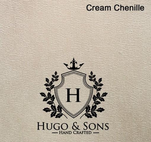 cream chenille fabric chesterfield bed
