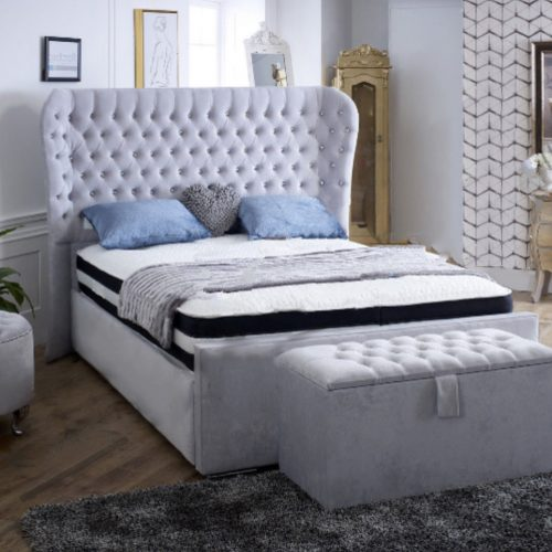 paris wingback bed