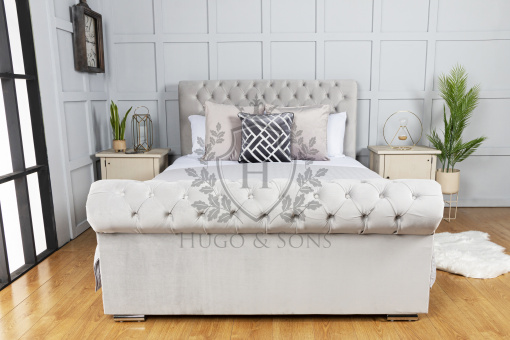 sleigh bed without beading 2
