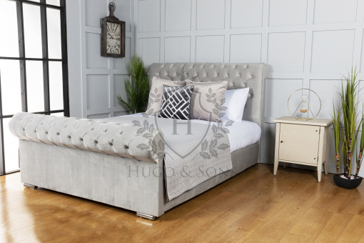 sleigh bed without beading