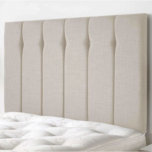 single buttoned upholstered headboard