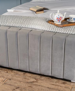 Linear Lined Wingback Bed 2